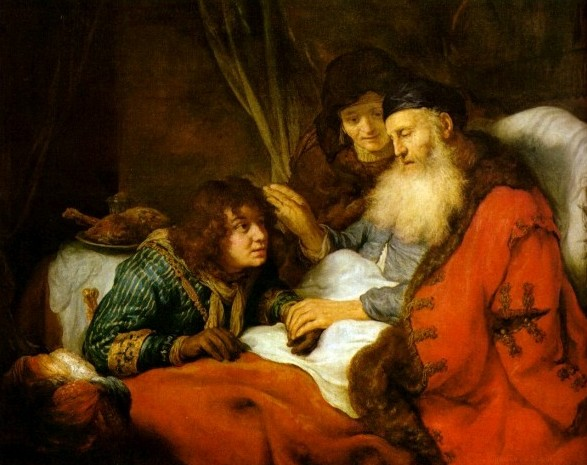 Isaac blessing disguised Jacob