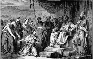 Zlafchad's Daughters confront Moses and the sages