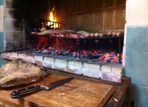 Embers under the grill