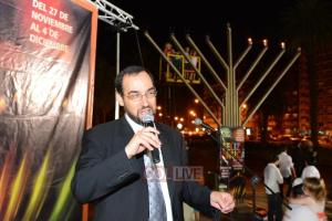 Addressing Chanuka event