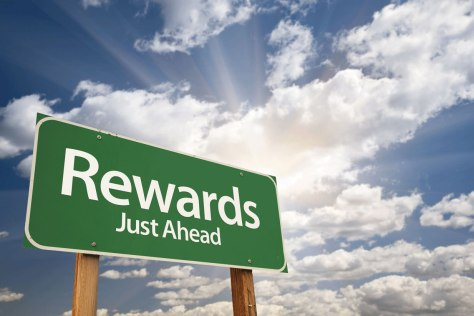 rewards-just-ahead-sign